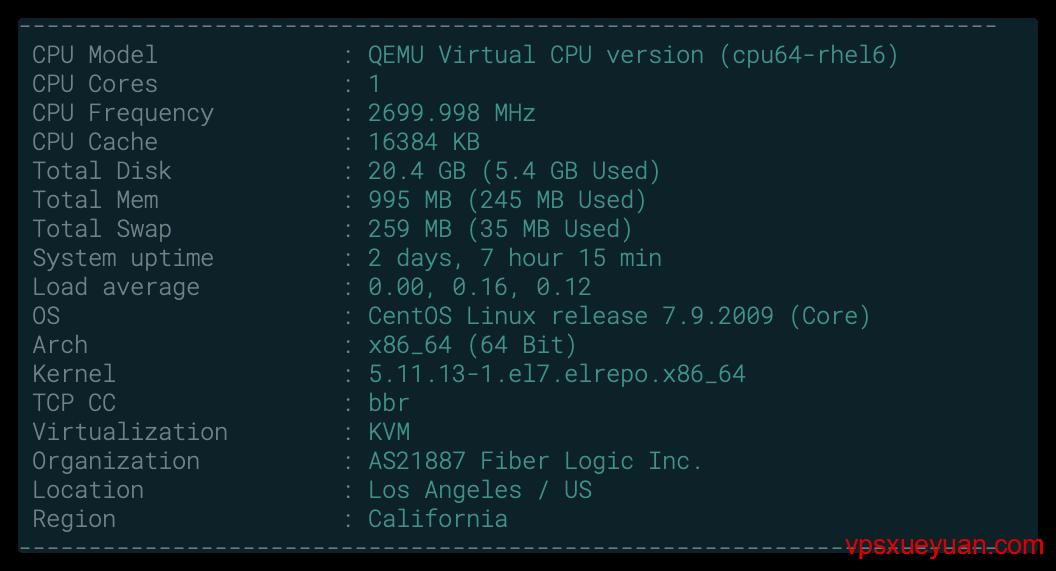 搬瓦工VPS硬件信息